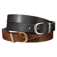 Mad Love Belt Set of 2 - Black/Brown