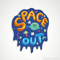 Space Out Iron On Patch