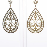 Moroccan Cut Earrings, Gold