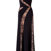 Elie Saab - Lace Panel Gown in Black