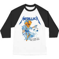 Metallica Men's  Doris Baseball Jersey Multi-color Rockabilia