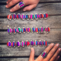 Buy 1 get 1 FREE Textile Fabric Rings by Roupoli