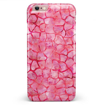 Pink Watercolor Giraffe Pattern iPhone 6/6s or 6/6s Plus INK-Fuzed Case