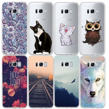 GerTong Painted Silicon Phone Case for Samsung Galaxy J7 J3 J5 2016 A3 A5 A7 2017 S4 S5 S6 S7 Edge S8 Plus Note 5 4 Grand Prime
