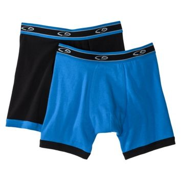 C9 by Champion® Men's 2pk Performance Stretch Boxer Briefs - Black/Blue