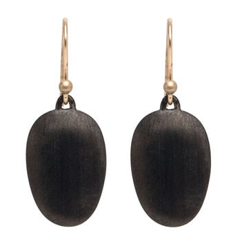 Ted Muehling Black Plate Small Chip Earrings