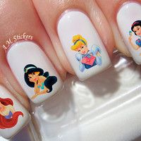 94 Disney Princess Nail Decals