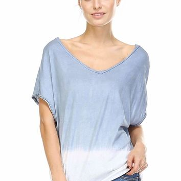 Dip Dyed V-Neck Top