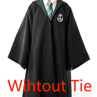 Harry Potter Robe Costume WITHOUT TIE for Kids and Adult (SLYTHERIN)