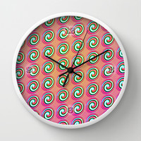 Candybuttons Pattern Wall Clock by Peter Gross