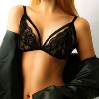 Sexy Lace Shirt Solid Color Fashion Bralette Woman Comfortable Bra [9640304963]