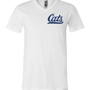 Official NCAA Venley University of Arizona Wildcats U of A Wilber Wildcat BEAR DOWN! Cats Baseball Tail Unisex V-Neck T-