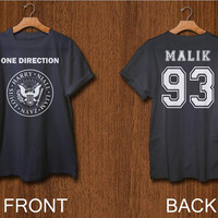 one direction shirt 2 side print digital front side and back side zayn malik 1D tshirt  black white colors clothing