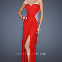 Open Back Evening Gown by La Femme