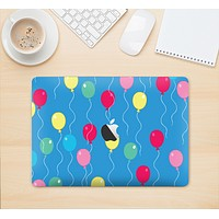 "The Blue With Colorful Flying Balloons Skin Kit for the 12"" Apple MacBook"