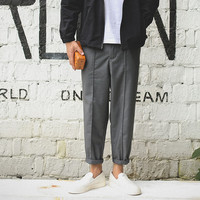 Men's Fashion Autumn Casual Trousers Cropped Pants [7929510403]
