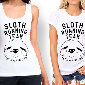 Sloth Running Team Tank top , Tshirt ,T shirt For Women
