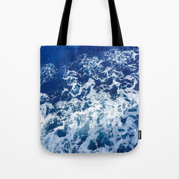 Sea Waves Tote Bag by Jenna C.