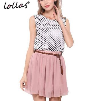 Lollas 2017 New Fashion High Waist Double Layer Women Chiffon Pleated Skirt Solid Color Plus Size Fashion Candy Color Skirt