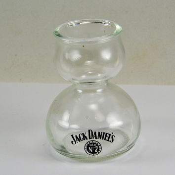 Jack Daniels Double Bubble Shot Glass - Whiskey Chaser - Vintage Bar