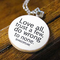 Shakespeare's Words of Wisdom Bookish Charm