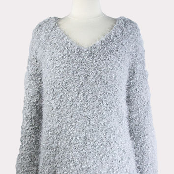 Fuzzy Heather Sweater