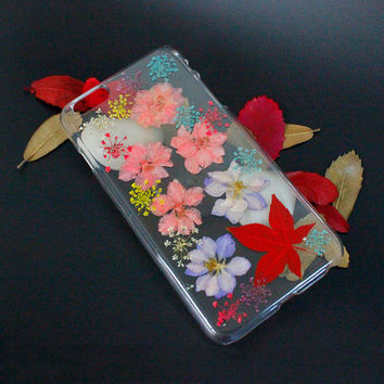 Pressed flower iPhone case for iPhone 6 / 5 / 5s / 6 plus / 5c / 4s, real flower phone case for Samsung Galaxy S6 / S5 / S4 /S3 / Note 2/3/4