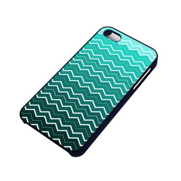 OMBRE TEAL CHEVRON Pattern iPhone 4 / 4S Case