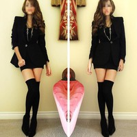 New Fashion Over The Knee Socks Thigh High Cotton Stockings Thinner