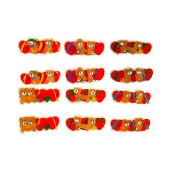 girl's teddy bear barrettes Case of 60
