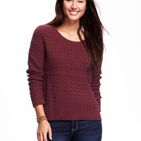 Hi-Lo Honeycomb-Stitch Pullover for Women | Old Navy