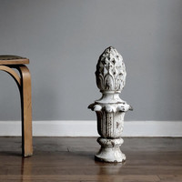 Large Cast Iron Finial from Detroit Lamp Post. Industrial Salvage.Circa 1910.