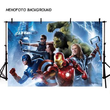 MEHOFOTO Superhero Movie Poster Photography Backdrop Avengers Theme Birthday Photo Background for Pictures Party Decorate