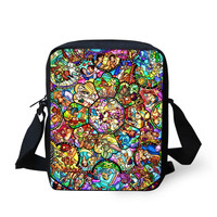 Disney All Characters Stained Glass Crossbody Purse Bag