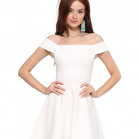 Strapless A-Line Mini Skater Dress