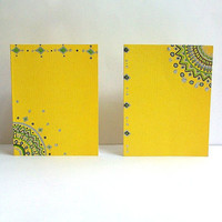 Sunny Yellow Hand Drawn Cards(Set of 2, envelopes included)