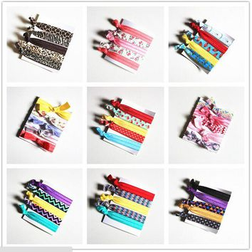 Pretty Knot Elastic Hair Tie Hairband Rubber Band Ponytail Holder Bracelets Silk cloth knotted headwear hair accessories simple
