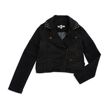 Dkny Girls 7-16 Stud Accented Moto Jacket