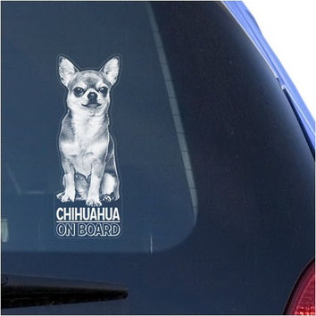 Chihuahua Clear Decal Sticker for Window, Chiwawa Dog Sign Art Print