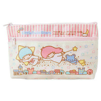 Flying in the sky little twin stars or hello kitty 2 tier cosmetic pouch