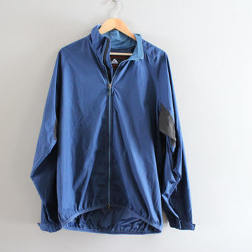 Nike Windbreaker Mesh Underarm Waterproof Shell Blue Light Weight Nike Zip Up Jacket 90s Vintage Unisex Minimalist Size L