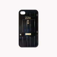 Sherlock Door Make a 221B Baker Street Print on Hard Plastic And Rubber for iPhone 4/4s/5, Samsung Galaxy S3/S4 & iPod 4/5 Case