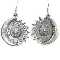 Earth Spirit Earrings - Sun & Moon - Earth Spirit Earrings - Sun & Moon