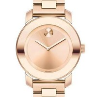 Movado Bold Rose Dial Rose Gold Ion-plated Unisex Watch 3600188