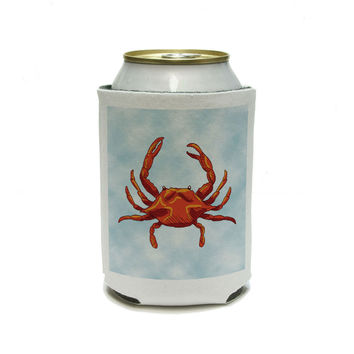 Crab Ocean Sea Creature Beach Can Cooler Drink Insulator Beverage Insulated Holder