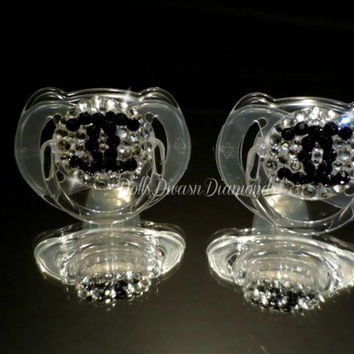 Baby Bling Pacifier Brand made with Swarovski Crystal