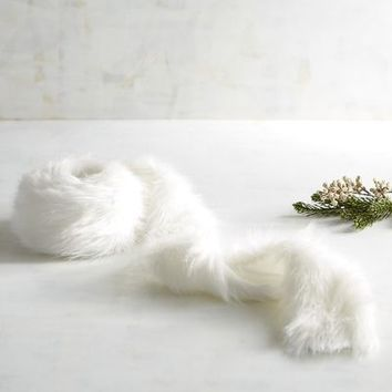 White Faux Fur Garland