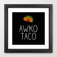 Awko Taco Framed Art Print by RexLambo