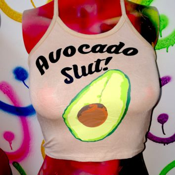 SWEET LORD O'MIGHTY! AVOCADO SLUT HALTER IN NUDE