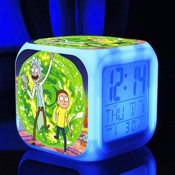 American Drama Rick and Morty Funny action figures Anime LED light Flashing toys hobbies for children High Quality Brinquedos